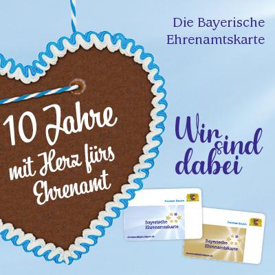 Banner 10 Jahre Bayerische Ehrenamtskarte